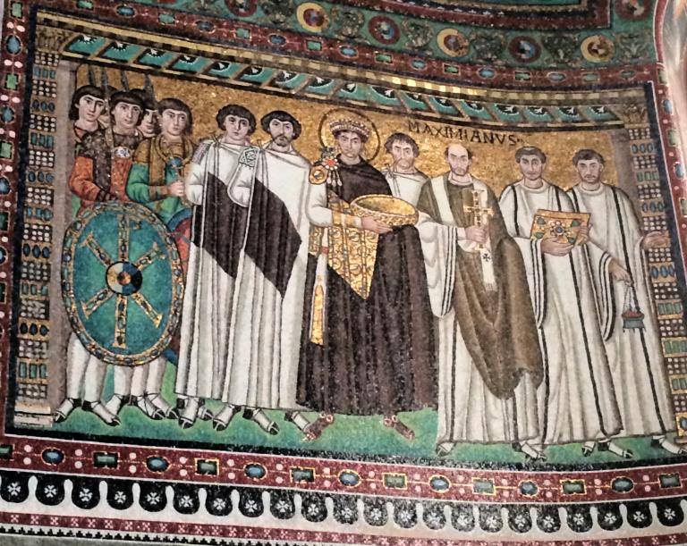 Emperor Justinian I mosiac