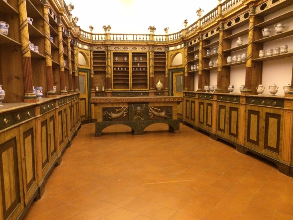 A monastery pharmacy at a museum in Ravenna, Italy.