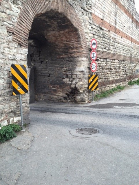 old gate in the Theodosian Walls