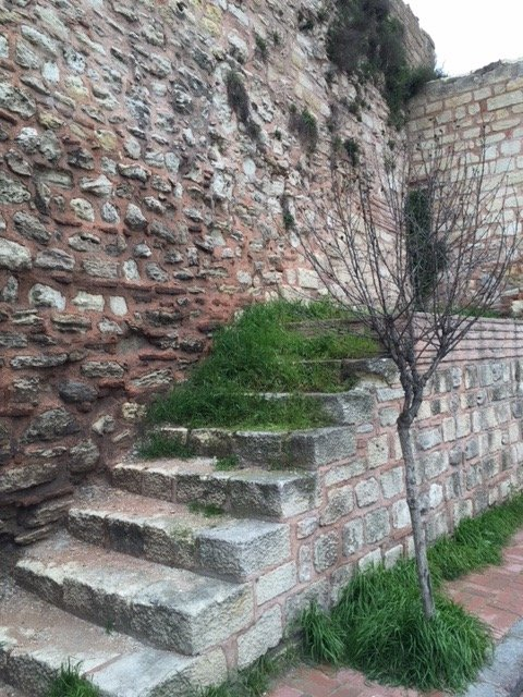 Theodosian Walls with stairs
