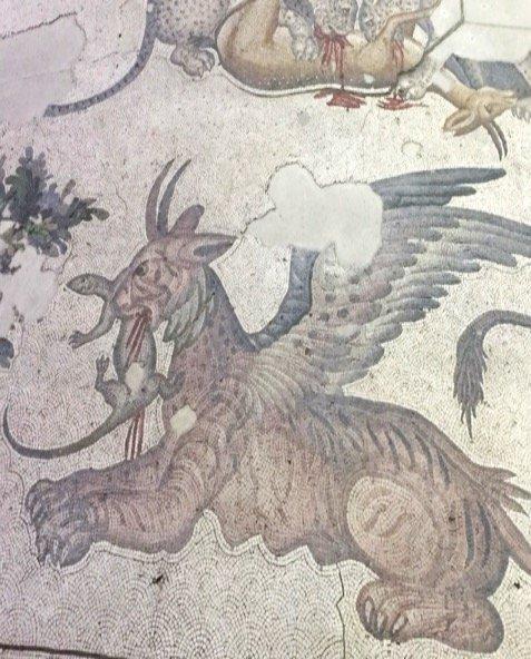 Museum of Great Palace Mosaics - mythological horned griffon