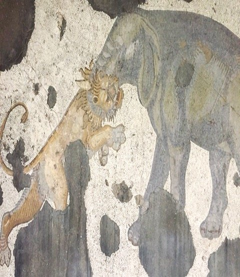 Museum of Great Palace Mosaics - elephant and lion