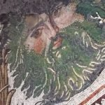 Museum of Great Palace Mosaics - man with green beard