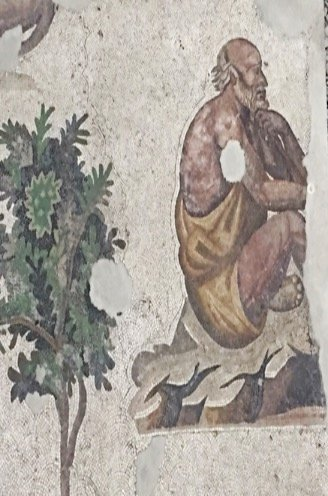Museum of Great Palace Mosaics - old man on a rock