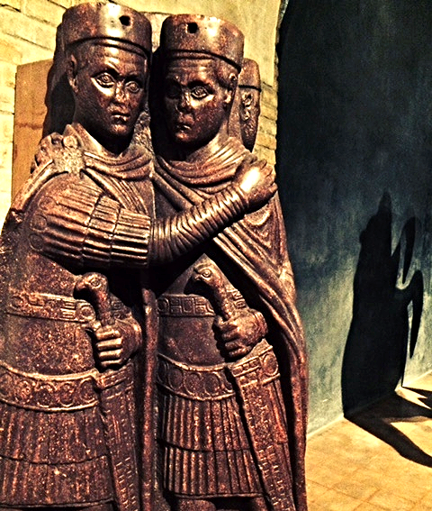 "Carving of two of the ""Four Tetrarchs"""