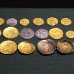 Coins from the Byzantine & Christian Museum in Athens, Greece