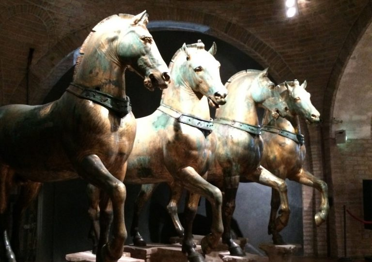 four horses at St. Mark's Basilica in Venice, Italy